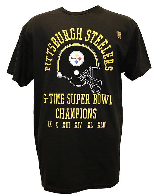 uk availability 10b30 9982d Amazon.com : G-III Sports NFL 6 Time Super Bowl Champ T ...