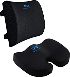 Everlasting Comfort Seat Cushion for Office Chair and Lumbar Support for Office Chair