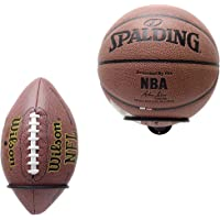 Suchek Metal Ball Holder Rack Wall Mounted, Display Wall Storage for Soccer, Basketball, Volleyball, Rugby, Football (2…