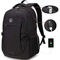 SOLDIERKNIFE Durable Waterproof Anti Theft Laptop Backpack Travel Backpacks Bookbag with usb Charging Port for Women & Men School College Students Backpack Fits 15.6 Inch Laptop Black