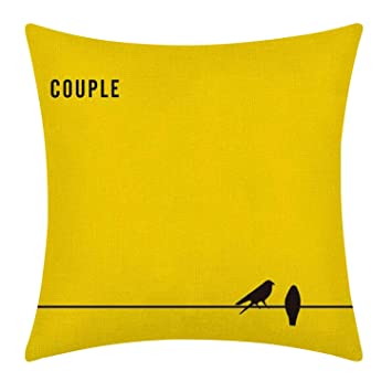 Amazon.com: naturalshow Amarillo Simple Abrazo almohada ropa ...