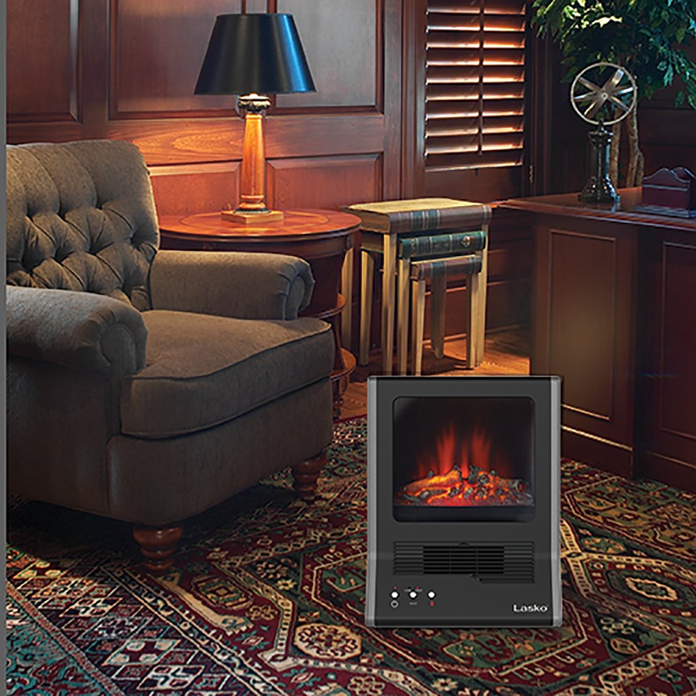 amazon com lasko ca20100 ultra ceramic fireplace heater black