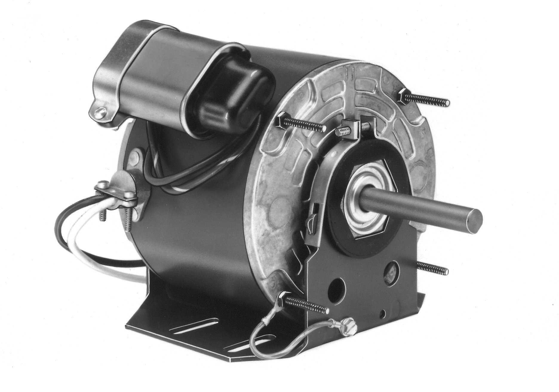 Fasco D734 5.6'' Frame Open Ventilated Permanent Split Capacitor Direct Drive Blower and Unit Heater Motor with Ball Bearing, 1/4HP, 1075rpm, 115V, 60Hz, 3.8 amps