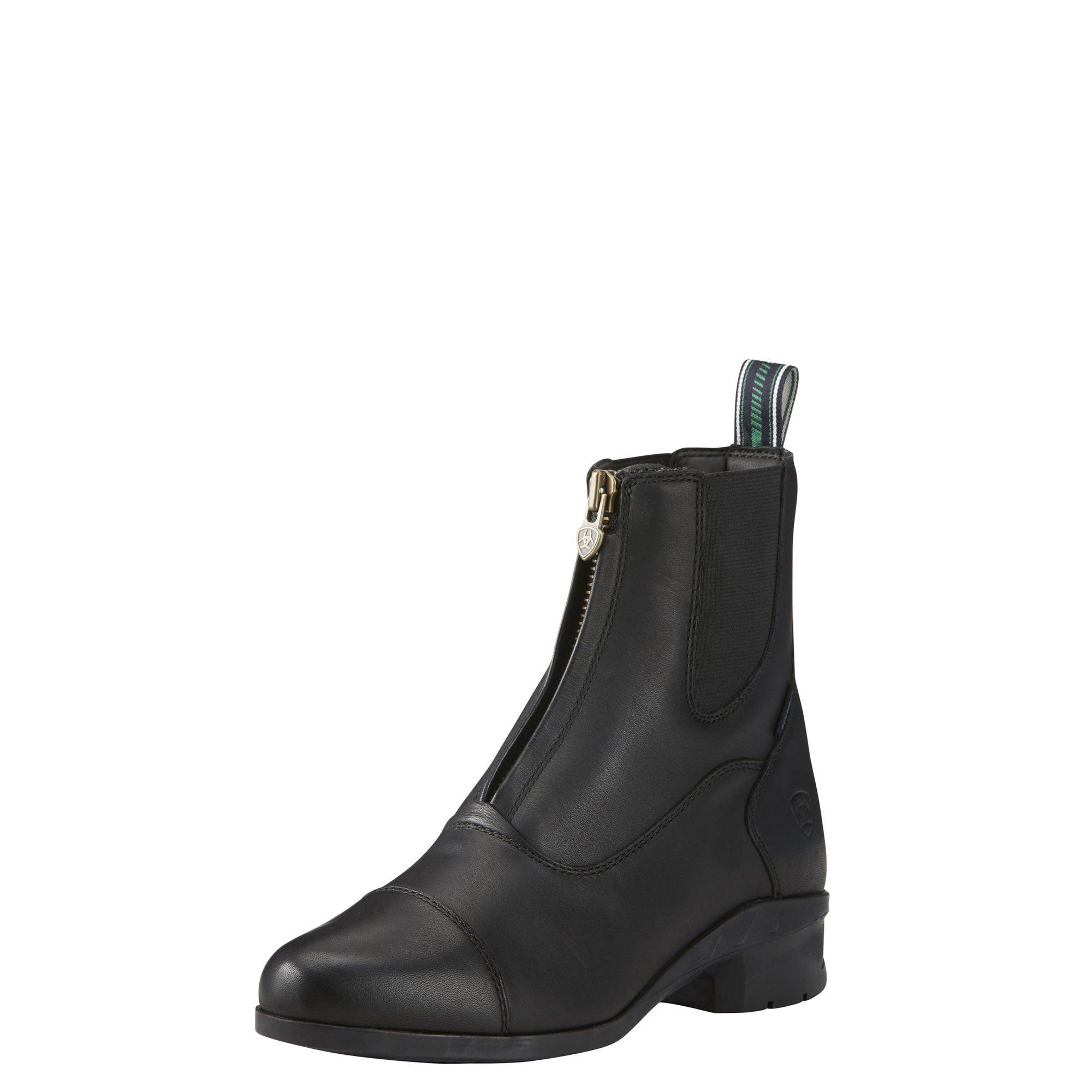 Ariat Women's Heritage IV Zip Paddock Boot, Black, 8 B US