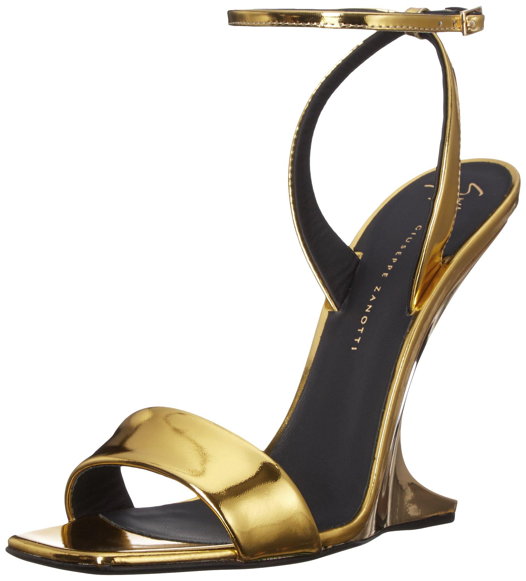 Giuseppe Zanotti Women's I700143 Wedge Sandal, Gold, 8 M US