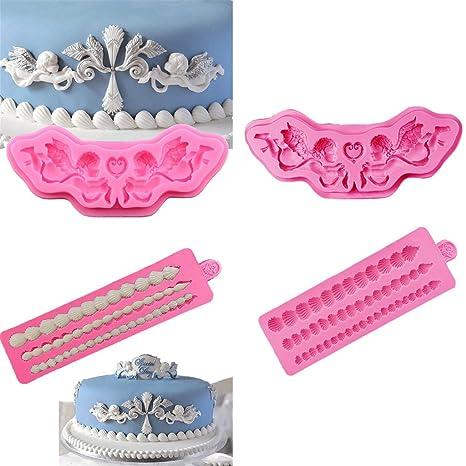 Jili en línea 2 Set Princesa – Molde de silicona para magdalenas para horno decorar pasteles