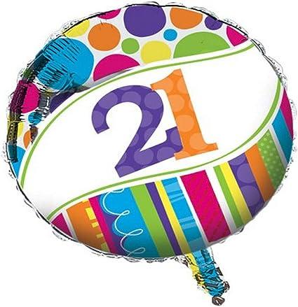 18 pack Bright /& Bold 21st Birthday Lunch Napkins