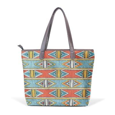 African Art Tribal Print Women's Fashion Large Shoulder Bag Handbag Tote Purse for Lady