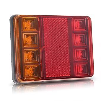 R TOOGOO 2 x 12v LED Feux Arriere Arret Indicateur Bateau Voiture Remorque Camion etanche Signal