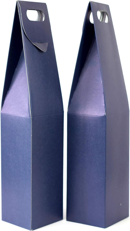 Duhalle 170Estuches para Botella de Vino cartón Azul–Juego de 2