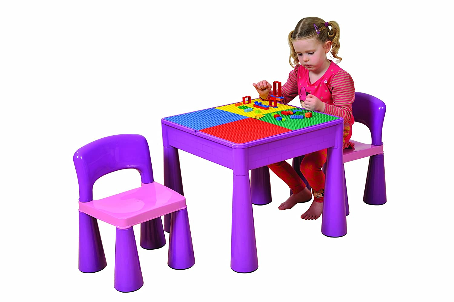 Liberty House 5 In 1 Activity Table U0026 Chairs With Writing Top/Lego/Sand/Water/Storage,  Violet: Amazon.co.uk: Kitchen U0026 Home