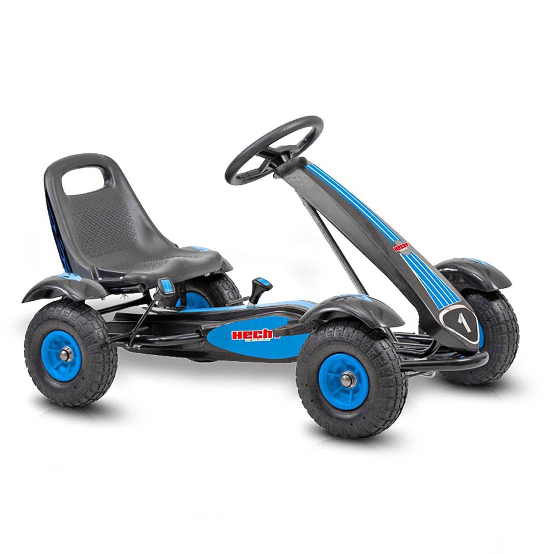 Hecht Go Kart 50100 Tretauto Go-Kart für Kinder (Blau-Schwarz ...