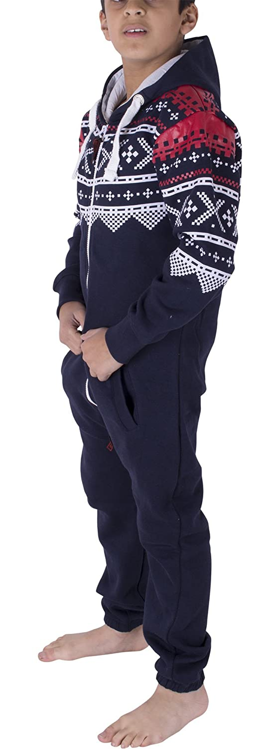 NOROZE Kids Aztec Print Boys and Girls Onesie Playsuit All in One Piece Children Jumpsuit Size 7 8 9 10 11 12 13 Years