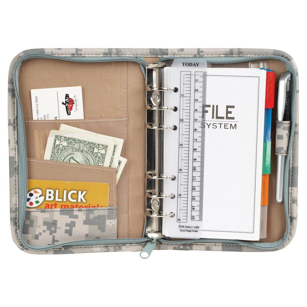 NuFazes Small ACU Digital Camo Mini Binder with File System Planner (Organizer)