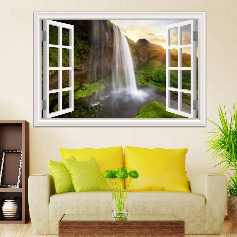 Nature Landscape 32D Window View Wall Stickers For Living Room ...