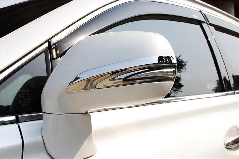 Baodiparts 2Pcs ABS Plastic Chrome Car Side Rearview Mirrors Molding Anti-Rub Decorative Cover Trims