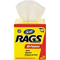 200-Count Kimberly-Clark Scott Rags in a Box Paper Cleaning Cloth (White)