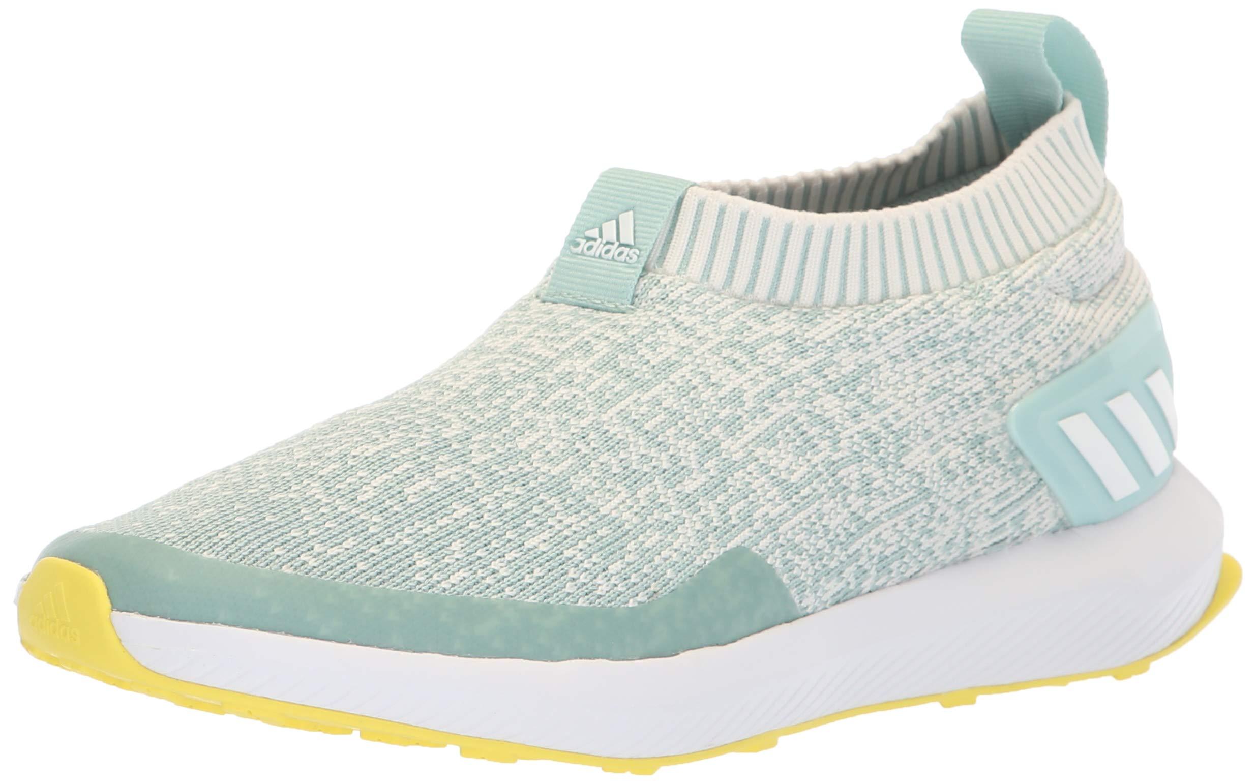 aee1d6310e adidas Unisex RapidaRun Laceless Knit Running Shoe, ash Green/Chalk  White/Shock Yellow, 6.5 M US Big Kid