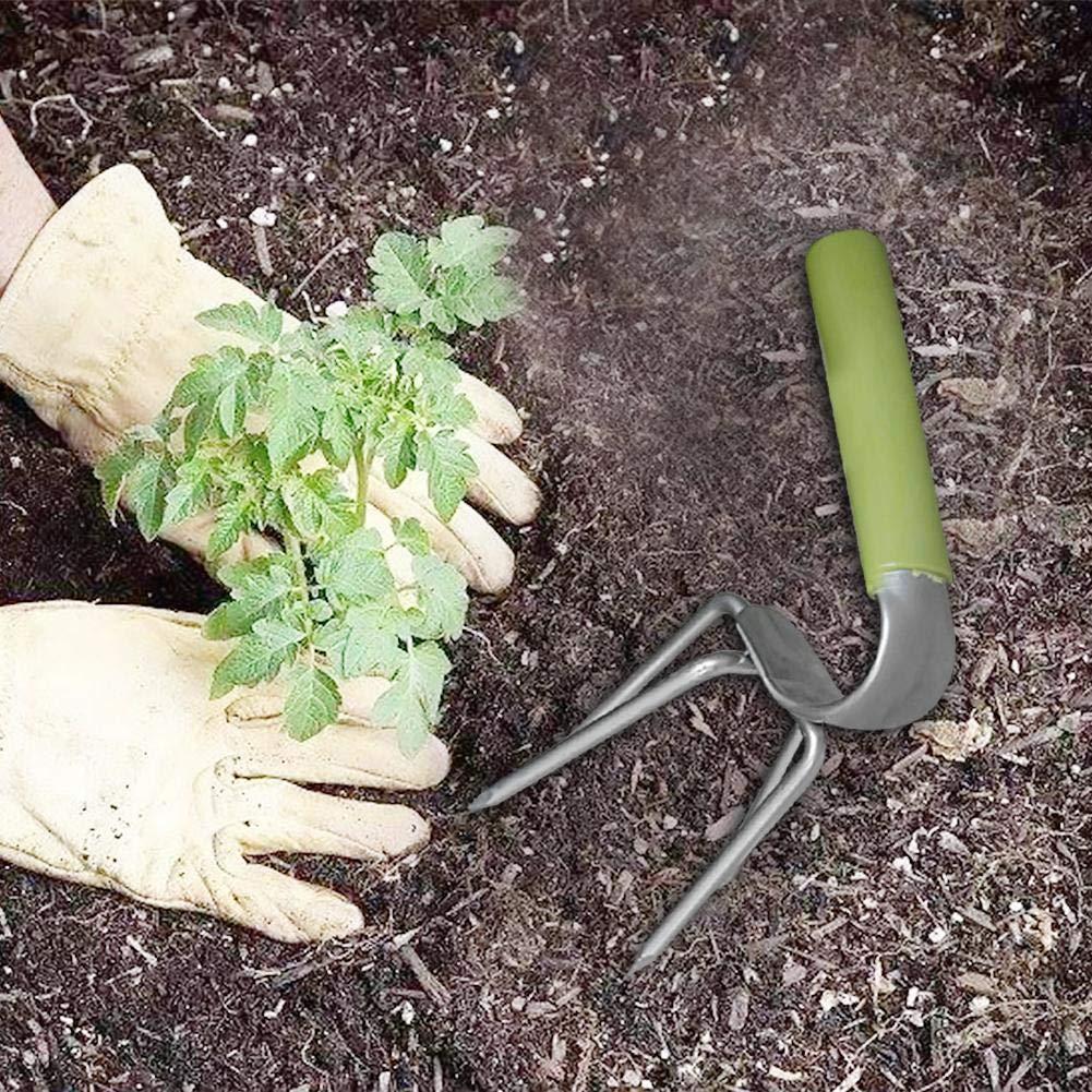 Child Loose Soil Helper Garden Courtyard Farm Tools Held Garden Ripper Hand Hoe Cultivator Garden Soil Tillage with Long Handle Purefire Hand