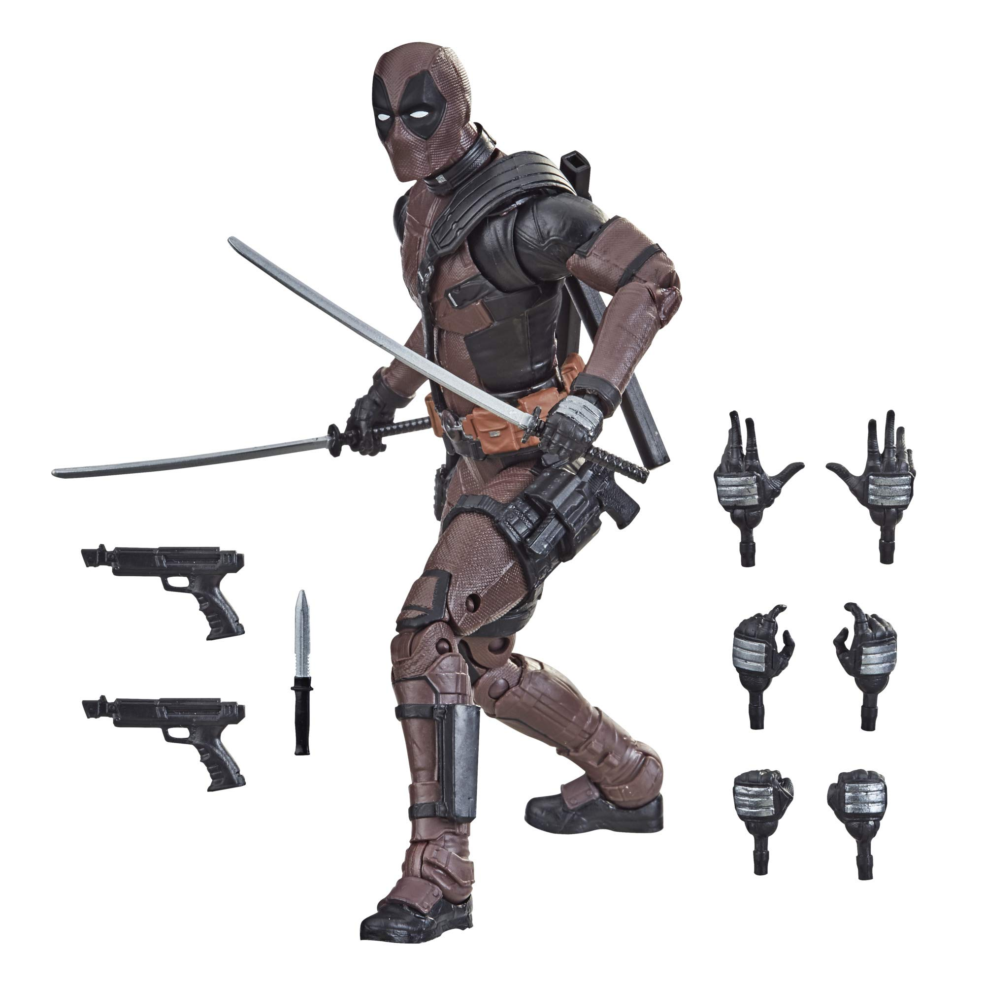 Hasbro Marvel Legends Series 6-inch Premium Deadpool Action Figure Toy from Deadpool 2 Movie and 11 Accessories (Amazon Exclusive)