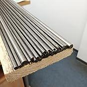 L/änge 500 mm +0//-3 mm ca. 50 cm B/&T Metall Silberstahl Rund Drm /Ø 12 mm 1.2210 blank gezogen h9