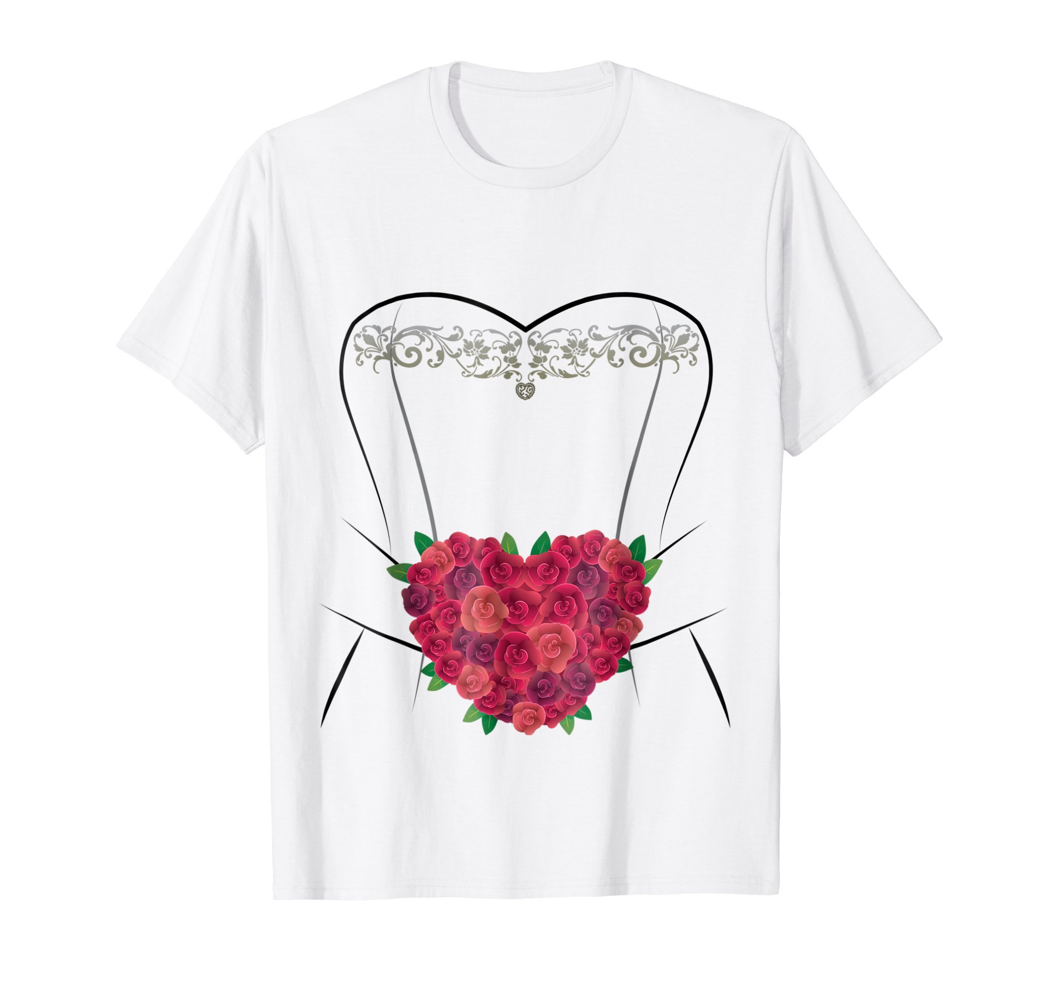 Wedding Dress T Shirt, Simple Marriage Bridal Shower Gifts