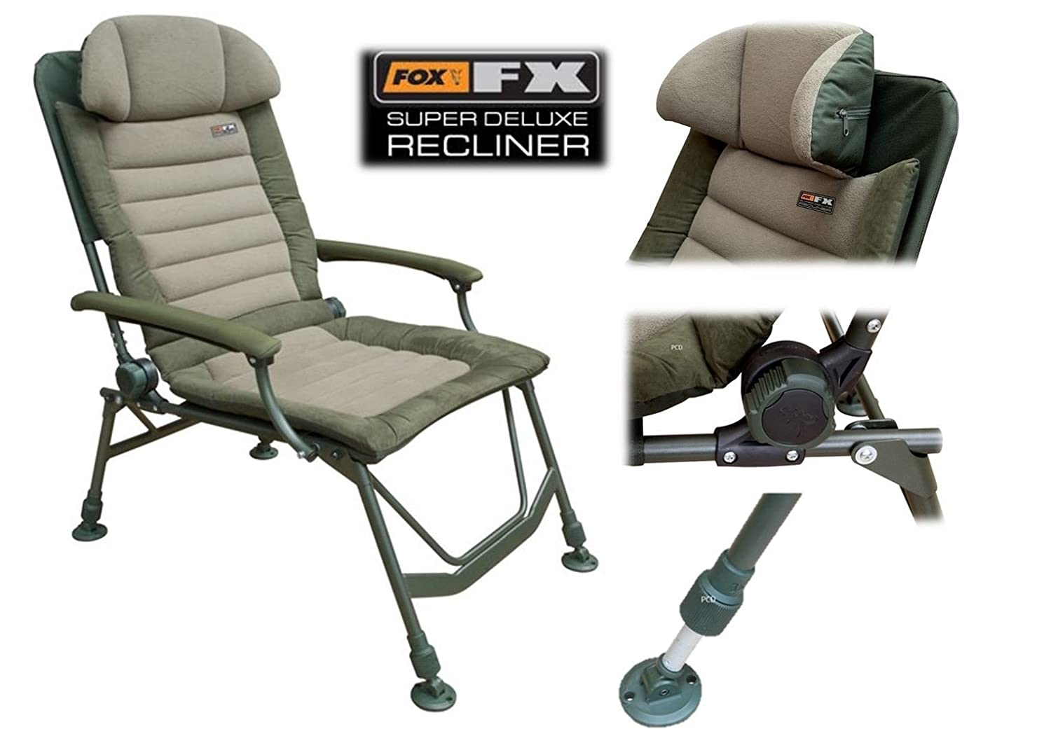 Admirable Chairs Bed Chairs Cbc047 Fox Fx Super Deluxe Recliner Machost Co Dining Chair Design Ideas Machostcouk