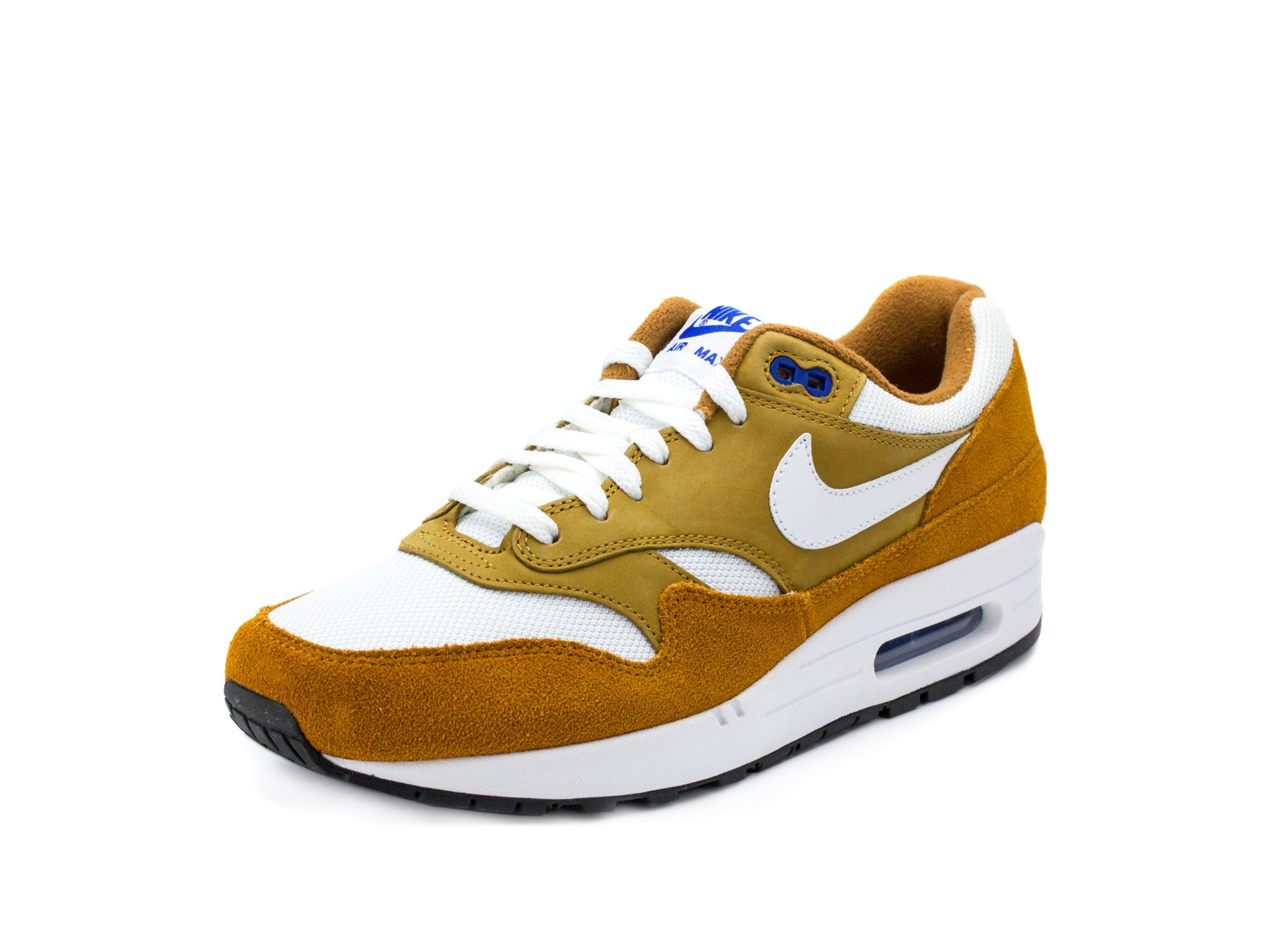competitive price 1c367 b51a3 Galleon - Nike Mens Air Max 1 Premium Retro Curry Dark Curry White Suede  Size 10.5