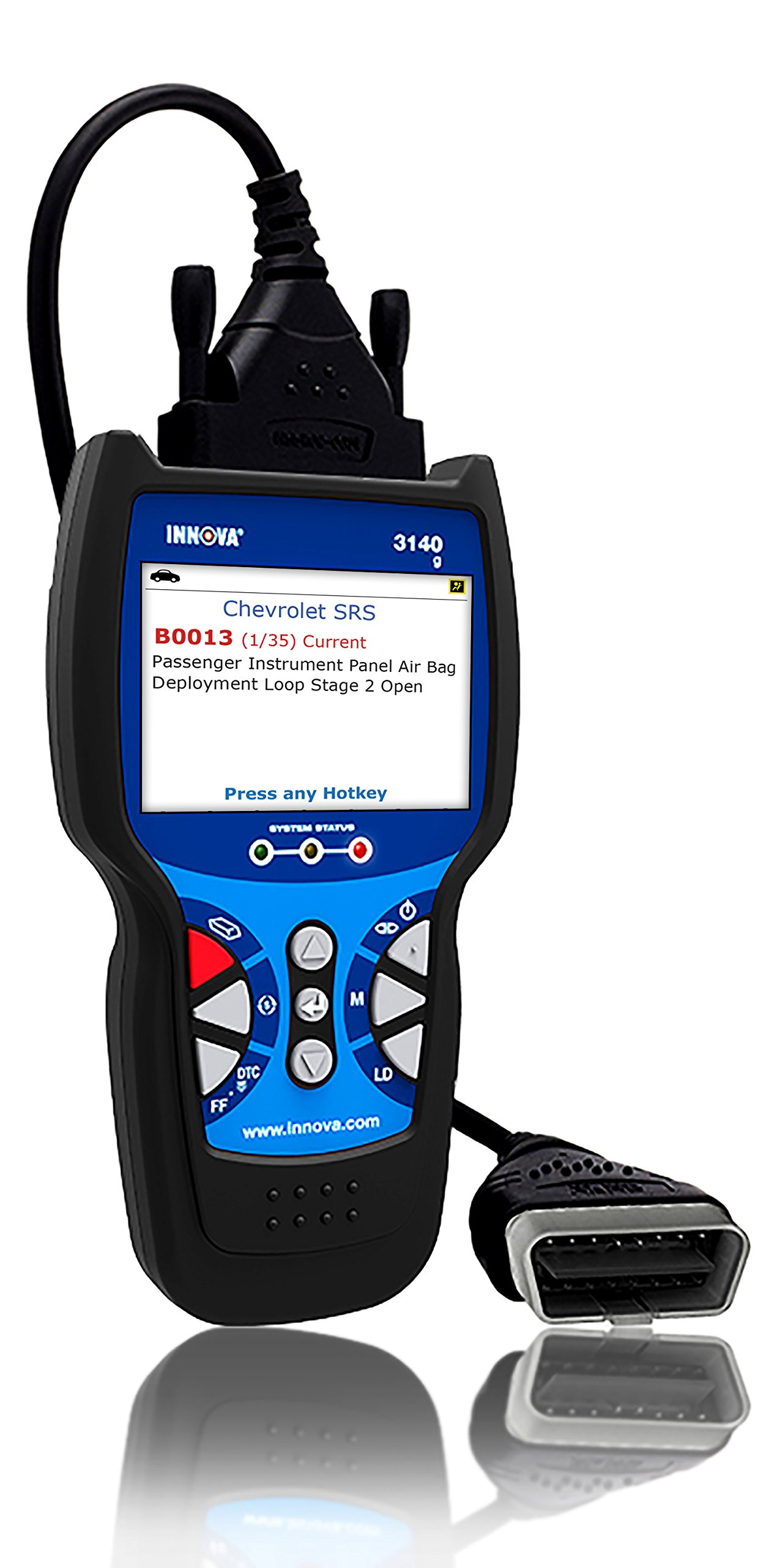 Innova 3140g Code Reader / Scan Tool with 3.5'' Display, ABS, Bluetooth, and Live Data for OBD2 Vehicles with OBD1 Coverage