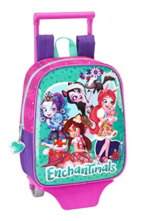 Safta Mochila Enchantimals Oficial Guardería Con Carro Safta 220x100x270mm: Amazon.es: Equipaje