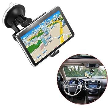 Dispositivo de navegación GPS 560 del Coche de la exhibición del LCD de 5 Pulgadas Mapa de América para el Coche del Carro (Color: Negro): Amazon.es: ...
