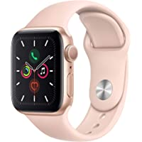 $379 » Apple Watch Series 5 (GPS, 40mm) - Gold Aluminum Case with Pink Sport Band