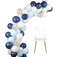 Globos Azul Blanco Arch Guirnalda Kit 106 Piezas