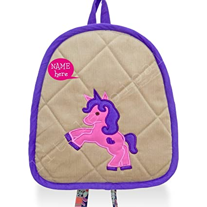 e76fb6cc387b LITTLE PIPAL PERSONALIZED Unicorn Backpack - Toddler  Amazon.in  Baby