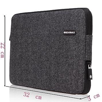 kaixin 11.6 Pulgada fundas bolsas estuches para ordenador portátil Tablet PC con forro suave negro negro 11,6 pouces: Amazon.es: Informática