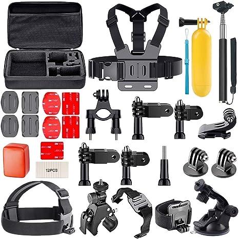 AuyKoo Kit de accesorios para GoPro Hero, cámara de acción 30 en 1, soporte para correa de hombro: Amazon.es: Electrónica