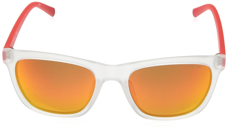 Nautica N3629Sp 949 56, Gafas de Sol para Hombre Crystal/Matte Red: Amazon.es: Ropa y accesorios