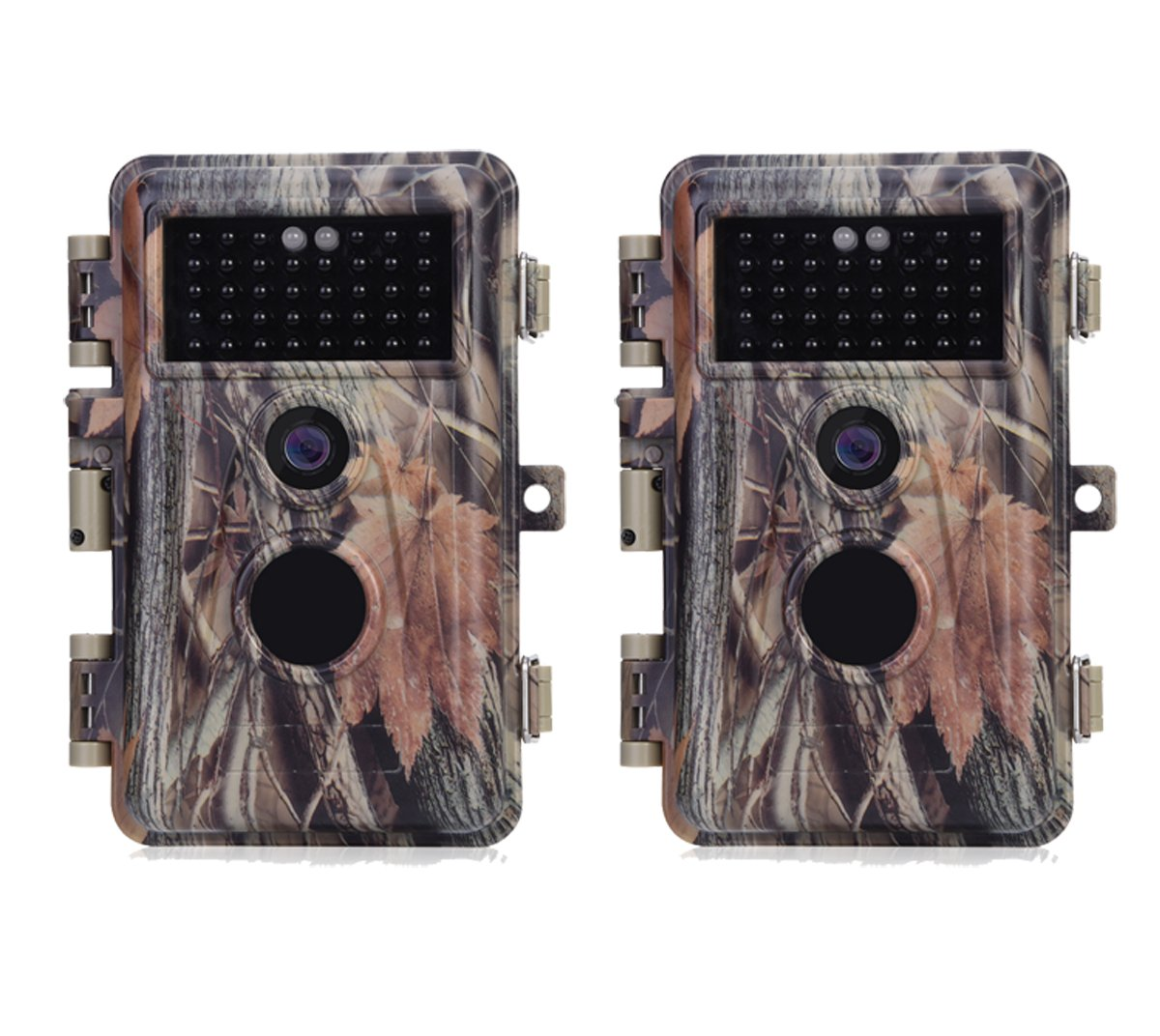 BlazeVideo 16MP 1080P Trail Hunting Wildlife Camera Camouflage, Hunter Scouting Game Cam Motion Sensor Activated Waterproof with Night Vision 38pcs IR LEDs Up to 65ft, Video Record, Snapshot, 2.4 LCD Screen 2.4 LCD Screen BVDLXJGRAY