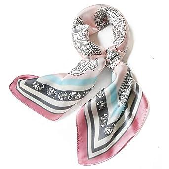 "Satin Silk Scarfs For Women 27"" Silky Head Hair Scarf Fashion Neck Scarves Headscarf Bag Beach Charm Gifts Square by Furtalk"