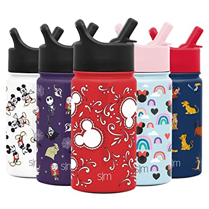 Mickey Bandana Dishwasher Safe Vacuum Insulated Tumbler Double Wall Travel Mug 18//8 Stainless Steel Flask Simple Modern 10oz Summit Kids Water Bottles with Straw Lid Sippy Cup Disney