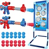 OleFun Shooting Game Toy for Age 5, 6, 7, 8,9,10+ Years Old Kids, Boys - 2 Foam Ball Popper Air Guns & Shooting Target & 24 F
