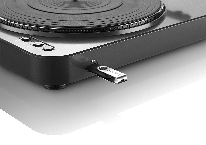 Lenco L-85 Color Negro Tocadiscos con USB