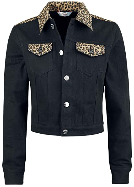 Banned Women's Rockabilly Leopard Jacket X Large, (Black