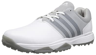 adidas Men's 360 Traxion WD Ftwwht/Dks Golf Shoe, White, 7.5 4E US