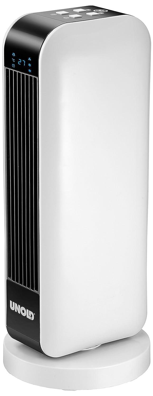 Acquisto UNOLD 86430 – Termoventilatore in ceramica, con telecomando, batterie 2000 W, 230 V, colore: Nero/Bianco Prezzi offerte