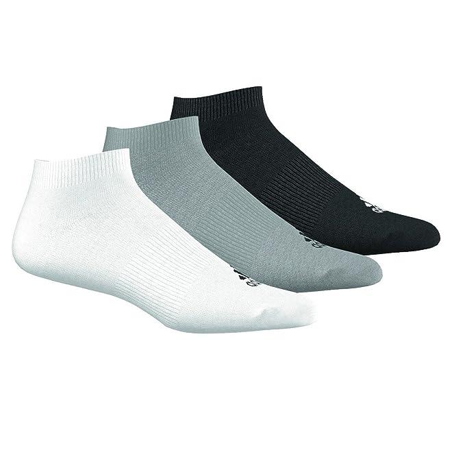 adidas - Calcetines cortos - Básico - para hombre Multicolor Grau/Weiß/Schwarz (