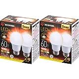 アイリスオーヤマ LED電球 E26 広配光 60形相当 電球色 メーカー5年保証 2×2個セット LDA7L-G-6T62P