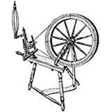 Woodworking Project Paper Plan to Build Large Spinning Wheel