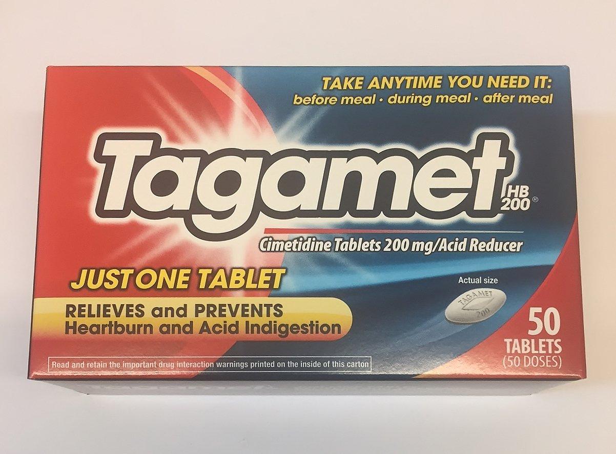 Tagamet Heartburn and Acid Reducer 200 mg 50 Tablets