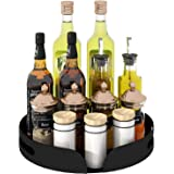 CASUN 11.4 Inch Lazy Susan Turntable,Rotating Spice Rack Storage Tray for Spice Sorting, Spice Rack Organizer for Kitchen Cab